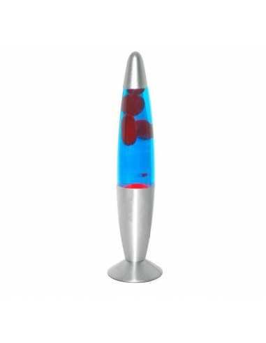 Lámpara de lava 40cm azul / rojo